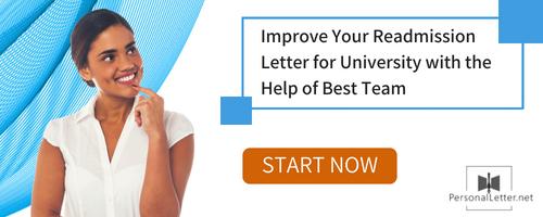 personal letter for university