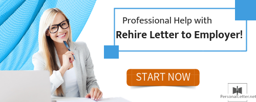 professional rehire letter to employer